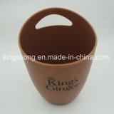 Matt Finish Copper Color Plastic Ice Buckets with Customized Logo
