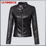 Best Sell Women′s Black PU Jacket for Winter Outer Wear