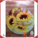 Beautiful Flower Non-Slip Shaggy Carpet Circle Printing Mat
