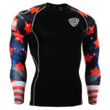 Mens Compression Under Base Layer Shirts Running Outdoor Sports Top (SRC87)
