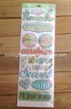 Handmade Paper Creative Craft Scrapbooking Embellishments Glitter Adhesive Dimensional Stickers