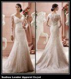 Sheer Sleeves Wedding Dress Mermaid Lace Bridal Wedding Gown Ld11611