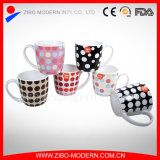 Beautiful Ceramic Coffee Gift Mug with DOT Design (GP1011)