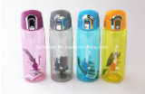 New Design Plastic Sports Drink Water Bottle with Locked Lid