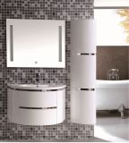 Bathroom Cabinet with LED Mirror and Side Cabinet