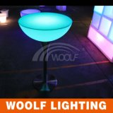 LED Light up Half Moon Glass Top Cocktail Tables