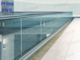 Clear 12mm Tempered Glass Railing with Stainless Steel Handrail