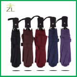 Promo Gift Seasonal Products Compact 3 Fold Unbreakable Auto Open Close Own Logo on The Umbrella for Travel