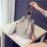 2017 Autumn New Fashion Bucket Bag Handbag Lash Tassel Shoulder Messenger Bag (GB#muzhu)