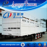 3 Axle Cargo Semi Trailer for Transport Livestock Cattle/Poultry (LAT9320CLXY)