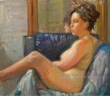 100% Handmade Wall Decor Nude Art Painting Ebf-031