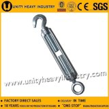 Zinc Plated Type DIN 1480 Drop Forged Hook&Eye Turnbuckle