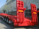 Low Bed Semi Trailer for Container and Machinery Transportation