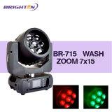 Mini Stage Lights LED RGBW 7*15W Moving Head Zoom Wash