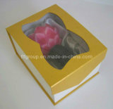Custmized Luxury Clear Window Cardboard Rectangle Printed Lined Display Boxes