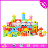 Wholesale Customize 100 Pieces Children Preschool Wooden Educational Play Blocks W13b035