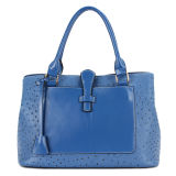 Embossed Faux Ostrich Leather Stylish Fashion Woman Handbag (MBNO030078)