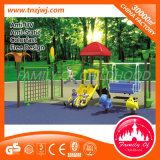 High Quality Plastic Swing Playset Garden Swing with Climbing Frame