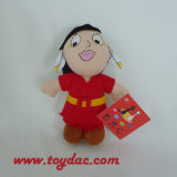 New Design Stuffed Africa Gril Key Ring