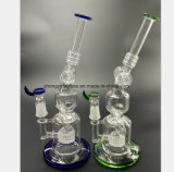 Blue and Green Filtered Glass Water Pipes of Hookah