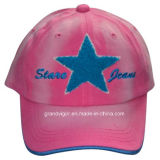 Womens Sublimation Printing Baseball Cap with Knitted Embroidery Logo