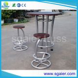 Round Table, Bar Table with 110cm Height Bar Stool