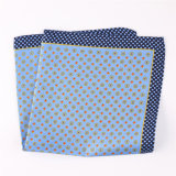 Luxury Silk Polyester Dots Plaid Flower Printed Pocket Square Hanky Handkerchief (SH-91)