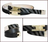 Fashion Black Leather Belt for Women