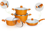 Induction Aluminum Pots and Pans with Removable Handles