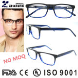 Free Sample Optical Frame Eyewear Blue Rectangle Glasses Frame Acetate Eyeglass Frame