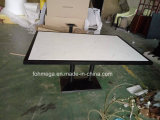 6 Seater White Artificail Marble Restaurant Dining Table Foh-Bmt1