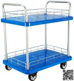 300kg Double Layers Plastic Hand Truck with Rail
