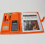 2016 Customized Leather Portfolio with Calculator (DS-012)