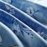 Polyester/Viscose Printing Fabric Lining (with white flowers)