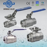 1000wog 2PC Stainless Steel Floating Ball Valve with Locking Device