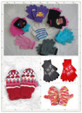 Wholesale 100% Acrylic Knitted Girl Fashion Glove