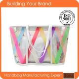 Summer Fashion Transparent PVC Promotional Women Tote Bags