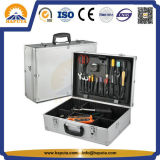 Black/Silver Hard Tool Case Tactical Waterproof Tool Box with Foam and Shoulder Girdle (HT-1115)