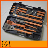 2015 Good Quality Aluminum BBQ Set with 18 PCS, Best Price BBQ Tool, Top Sale BBQ Tool Set Stainless Steel BBQ Utensil Set T39A007
