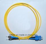 Sc/St Sm Dx Fiber Optic Patch Cord