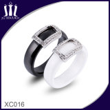 Xc016 Hollow out Rectangle Ceramic Finger Ring