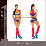 Adult Cosplay Sexy European Cup Football Cheerleader Jersey Costume (TLQZ7065)
