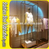 Custom-Made Stainless Steel Clothes Display Rack Display Stand