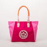 2016 Trendy Contrast Designer Nylon Leisure Ladies Tote Handbag (QF-15044C)