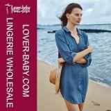Woman Beach Shirt Dress High Quality Beachwear Clothes (L38328)