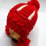 POM POM Cable Hand Knitted Winter Hat Beanie Cap