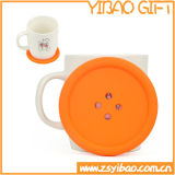 Button Shaped Silicone Cup Coaster for Advertising Gift (YB-n-013)