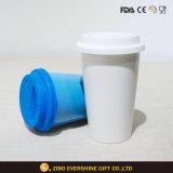 High Quality Ceramic Travel Mug with Silicone Lid Cap