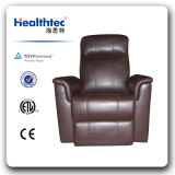 Brown Geniuine Leather Electric Massage Chair (D08)