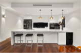 Modern Luxury Wooden Kitchen Cabinet with Waterfull Island Furniture (BY-L-154)